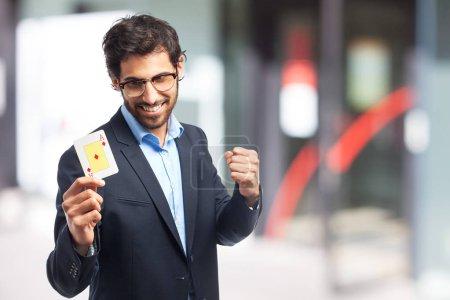 Photo pour Un homme d'affaires indien avec ace - image libre de droit