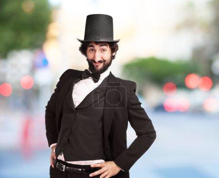 elegant crazy man