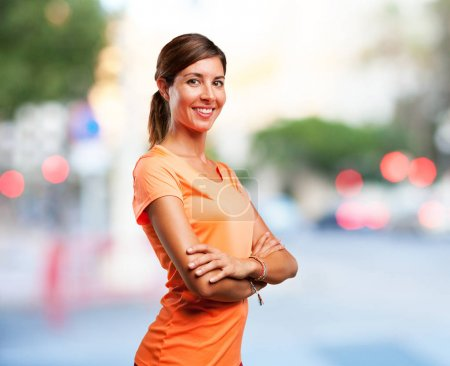 happy sport woman smiling