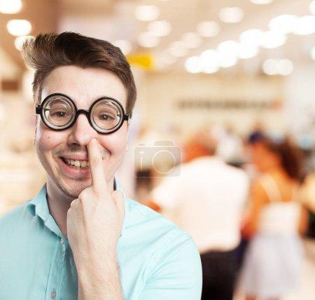 crazy young man joking