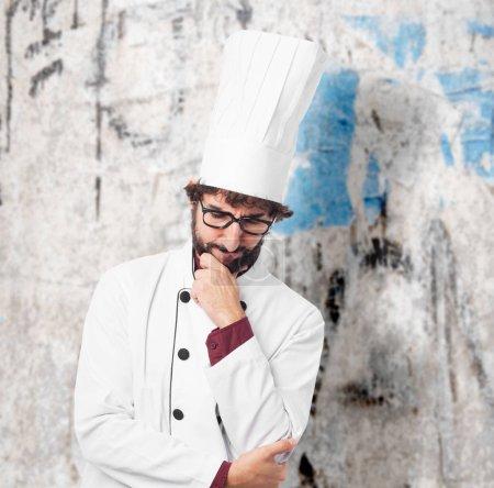Photo for Sad cook man thinking - Royalty Free Image