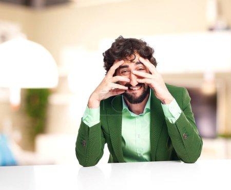 Photo for One sad businessman crying - Royalty Free Image