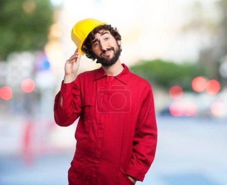 proud worker man shake hands