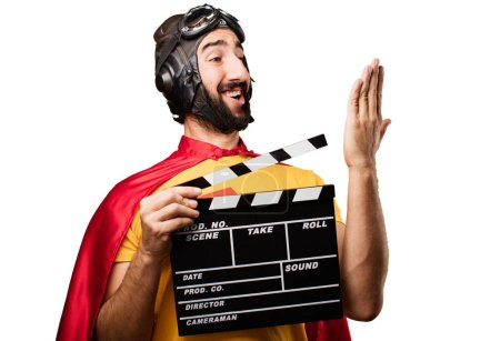 crazy super hero with clapper