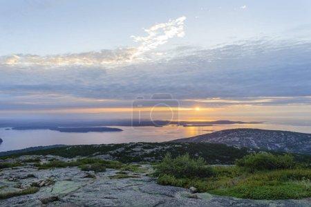 Sun rising over Gulf of
