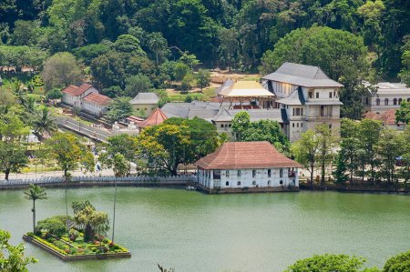 View to the Temple of the Tooth in Kandy, Sri Lanka.