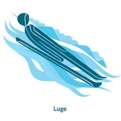 Luge icon Olympic species of events in 2018 Winter sports games icons vector pictograms for web print and other projects Vector illustration isolated on a white background