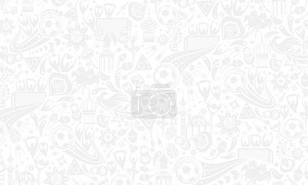 Illustration for Vector illustration russian gray background. Official background of the FIFA World Cup in Russia 2018. World of Russia pattern with modern and traditional elements, 2018 trend background. - Royalty Free Image