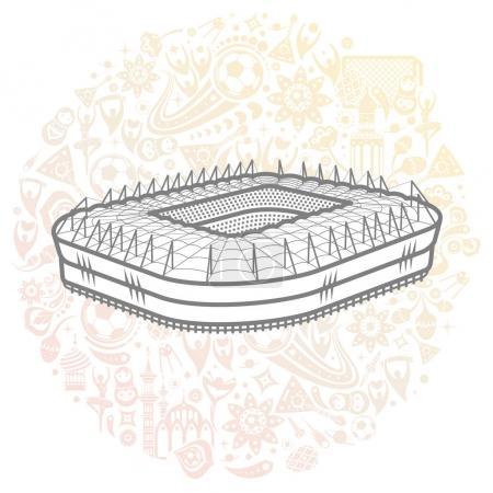 soccer stadium colored illustration