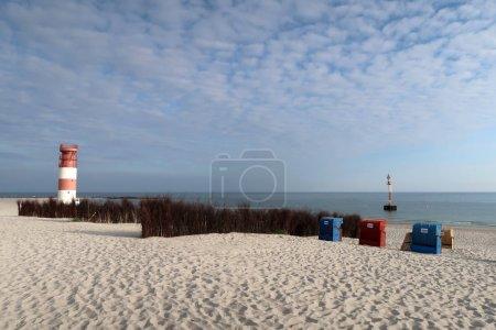 Photo pour Phare de Helgoland en Allemagne sur le bord de mer - image libre de droit