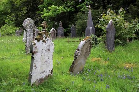 Photo pour Vue imprenable sur le vieux cimetière d'Oxford le jour - image libre de droit