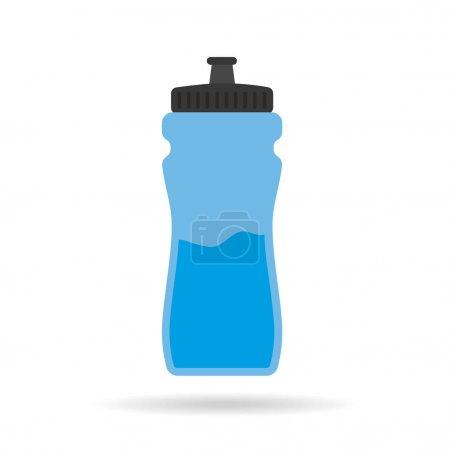 Illustration pour Illustration vectorielle icône bouteille d'eau - image libre de droit