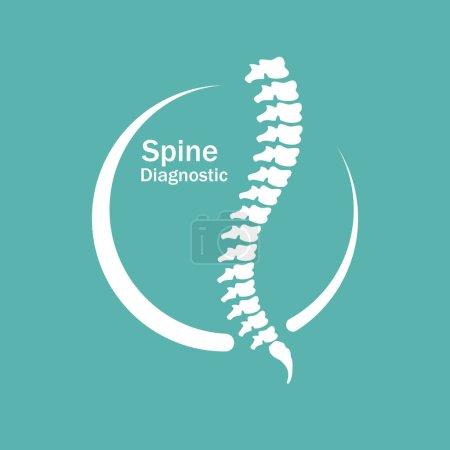 Human spine Logo element vector illustration...