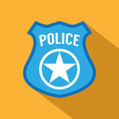 Police badge icon vector illustration