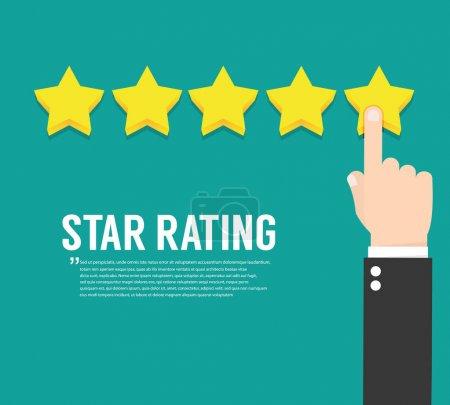 Rating stars. Flat design
