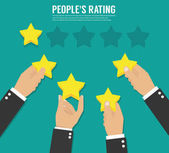 Rating stars Flat design