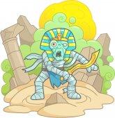 Hrozné mumie s mečem v ruce