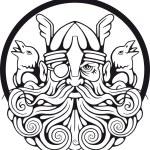 Scandinavian god Odin and his ravens...
