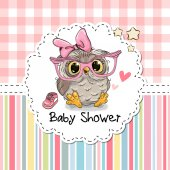 Baby Shower Greeting Card with Owl