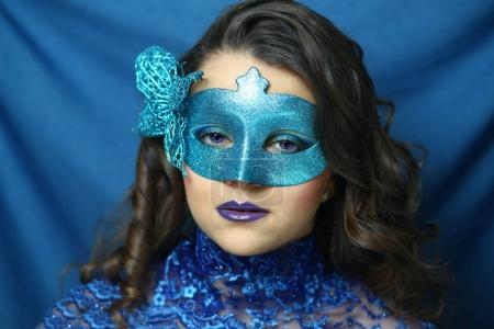 Blue mask beauty