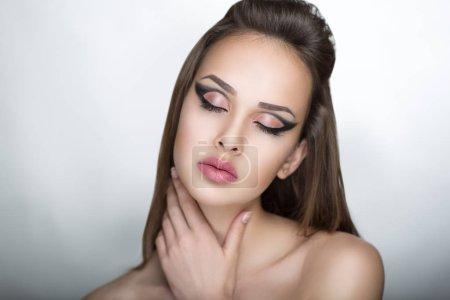 woman pretty face