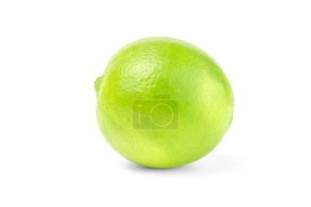 Single lime on white background