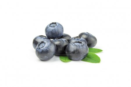 Bunch of blueberry on a white background