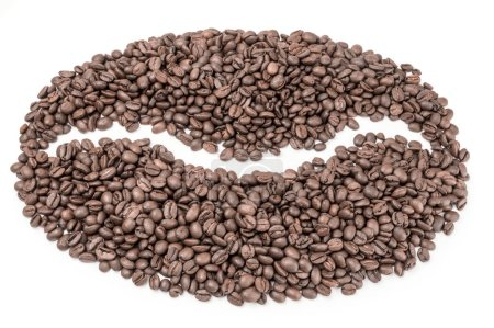 Coffee on a white background. Clipping path