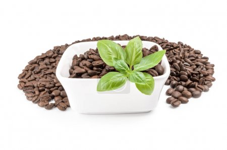 Roast coffee on a white background. Clipping path