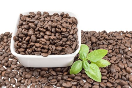 Brazilian coffee on a white background. Clipping path