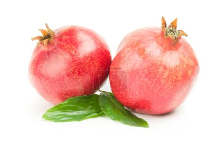 Pomegranate fruit isolated on a white background cutout