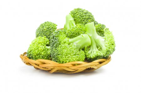 Broccoli cabbage isolated on a white background cutout