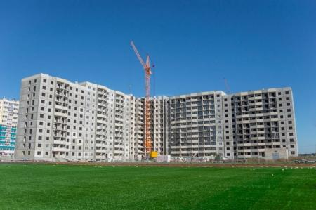 Tower cranes and new residential building