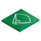 Icon playground baseball in isometric vector illustration