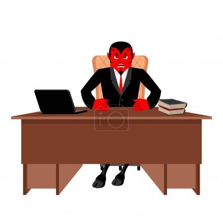 Босс Диабло сидит в офисе