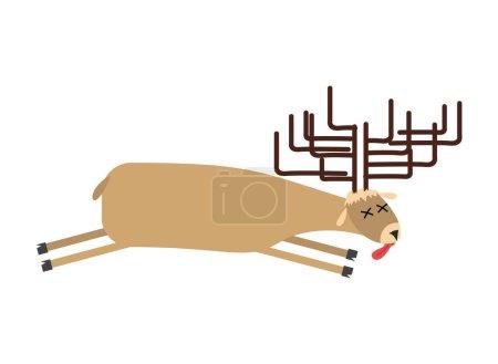 Illustration pour Des orignaux morts. Deer est mort. Le cadavre des bêtes sauvages - image libre de droit