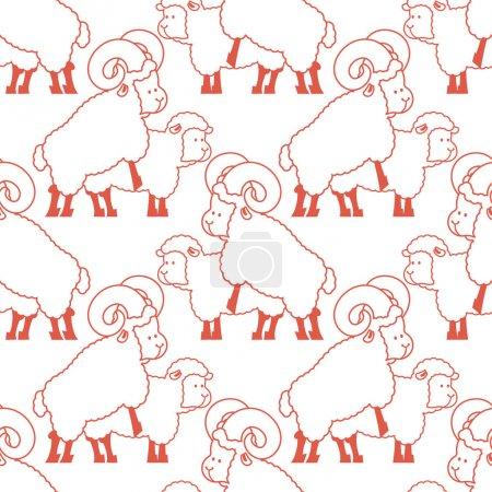 Le sexe des moutons. Ornement de rapports sexuels d'animaux de ferme. Repr bêtes