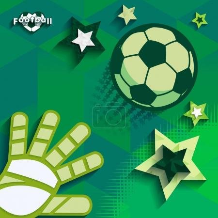Flying ball and soccer glove