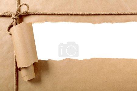 Photo pour Ruban de papier déchiré - image libre de droit