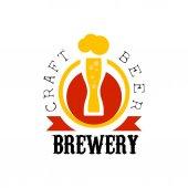Craft Beer Brewery Logo Design Template