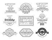 Wood Workshop Logo Set