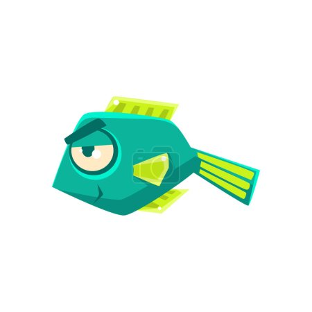 Tropical Fish Cartoon Character