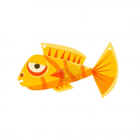 Orange Stripy Phlegmatic Fantastic Aquarium Tropic...