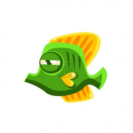 Tropical Butterfly Fish Cartoon Character