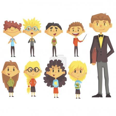 Elementary School Group Of Schoolchildren