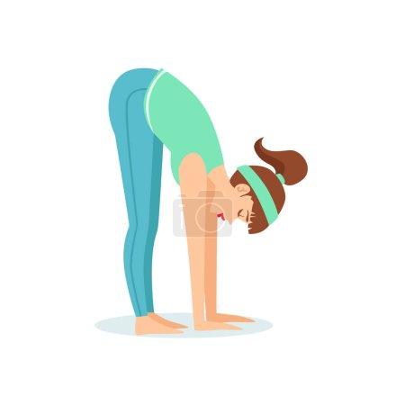 Standing Forward Bend Uttanasana Yoga Pose Demonst...