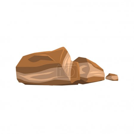 Brown Layered Rock Isolated Element Of Forest Landscape Design For The Flash Game Landscaping Purposes