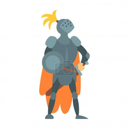 Knight Fairy With Orange Cape And Shield Tale Cart...
