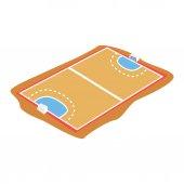 Handball court playground cartoon vector Illustration