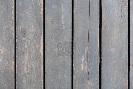Photo for Grey wood texture and background. Rustic, aged wooden planks pattern, copy space - Royalty Free Image